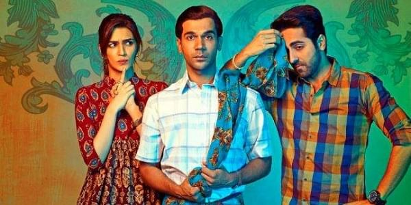 Kriti Sanon, Rajkummar Rao and Ayushmann Khurana in the poster of BAreilly Ki Barfi. (Photo | Twitter)