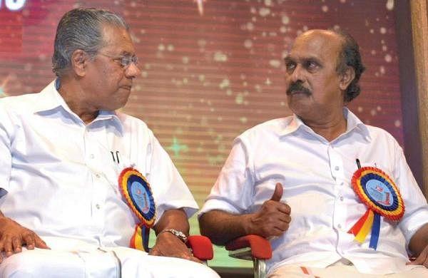 Kerala Revenue Minister E Chandrasekharan and Chief Minister Pinarayi Vijayan ( File| Manu R Mavelil)