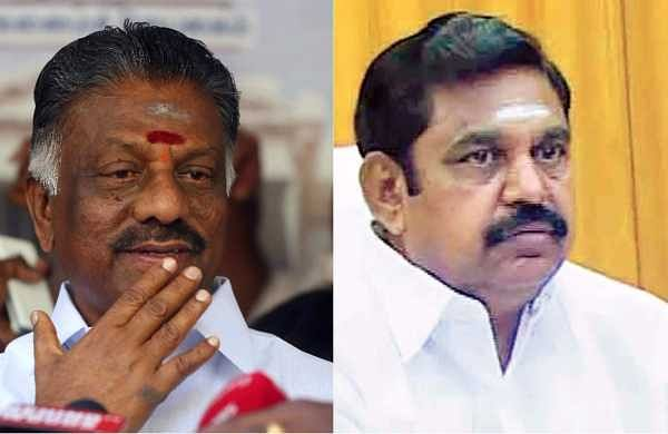 O Panneerselvam (left) and E Palaniswami (right)