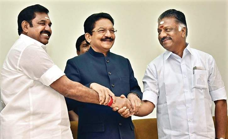 OPS shakes hands with EPS at last: Warring AIADMK factions merge