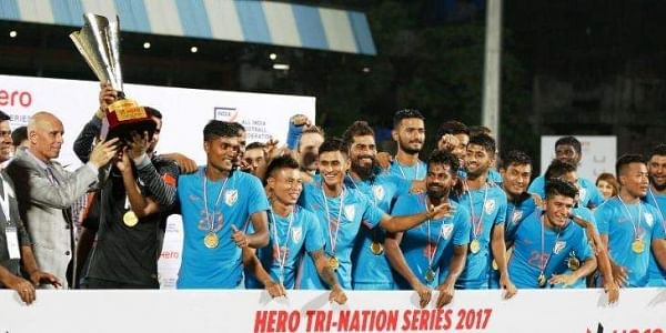 India have stretched their unbeaten run to 10 matches. (Twitter | Indian Football Team)