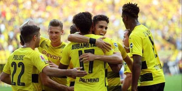 The hosts ensured a bright start on home soil as Pierre-Emerick Aubameyang broke the deadlock after slotting home Nuri Sahin's cross with 15 minutes into the game.