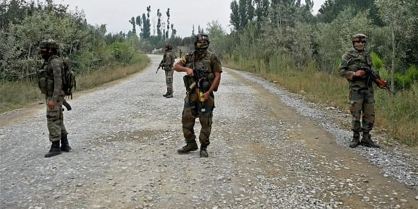 Army personnel stand guard in Pulwama district. (FIle | PTI)