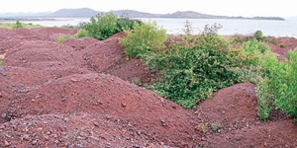 Image of stacked iron ore used for representational purpose.