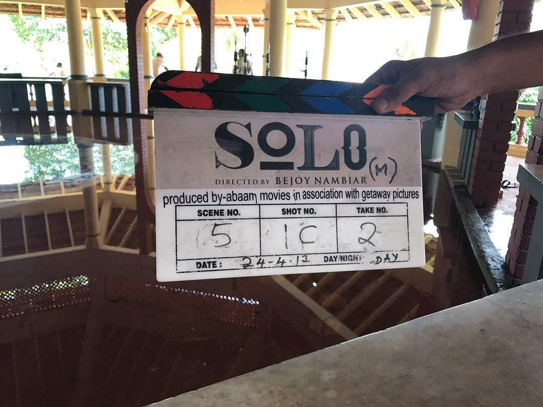 Solo,Dulquer Salmaan, clap board
