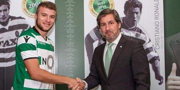 Sporting Lisbon have signed Macedonia international full back Stefan Ristovski (Left) | Twitter: @Sporting_CP