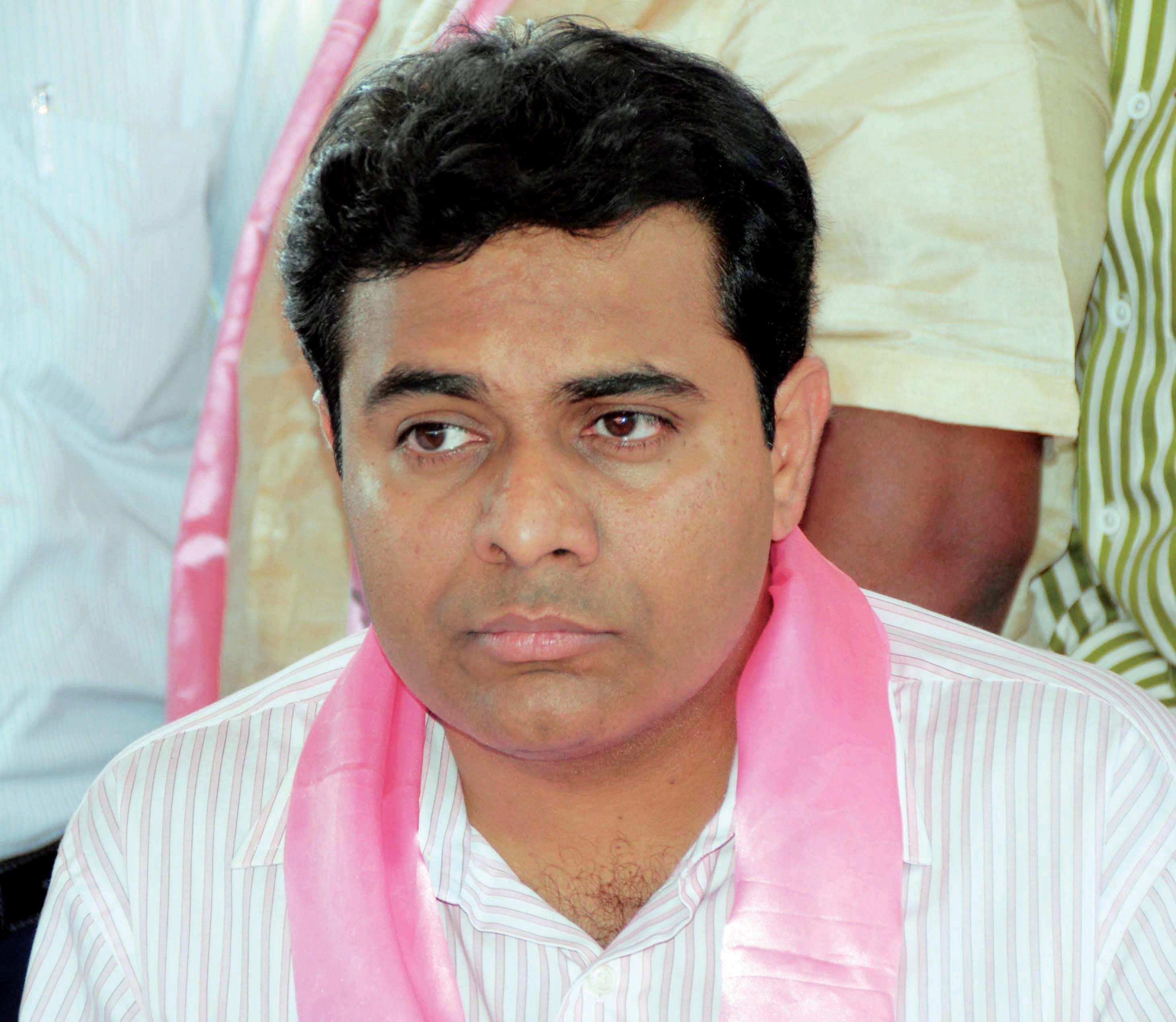 Telangana minister KT Rama Rao consoles Nerella victims