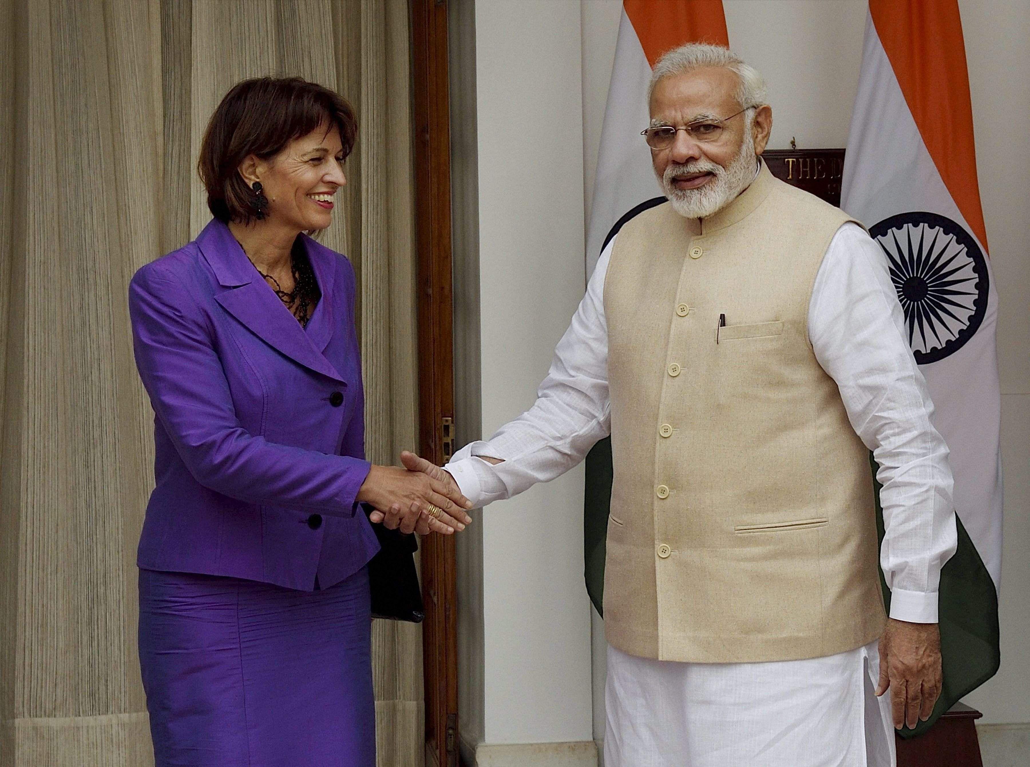 With Swiss President, PM Modi talks ways to combat black cash
