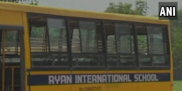 The body of a class 2 student was found inside a toilet in Ryan International School, Bhondsi in Gurgaon. | ANI