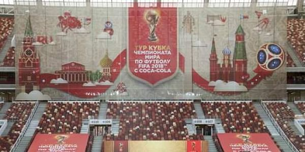 Ticket sales have started for next year's soccer World Cup in Russia, with prices ranging from 1,280 rubles ($22) for the cheapest tickets _ a price available to Russian fans only _ to 66,000 rubles ($1,100) for top-level seats at the final. (AP Photo)