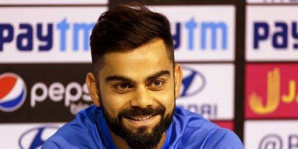 Indian cricket team captain Virat Kohli smiles during press conference in Chennai, India, Saturday, Sept. 16, 2017. AP