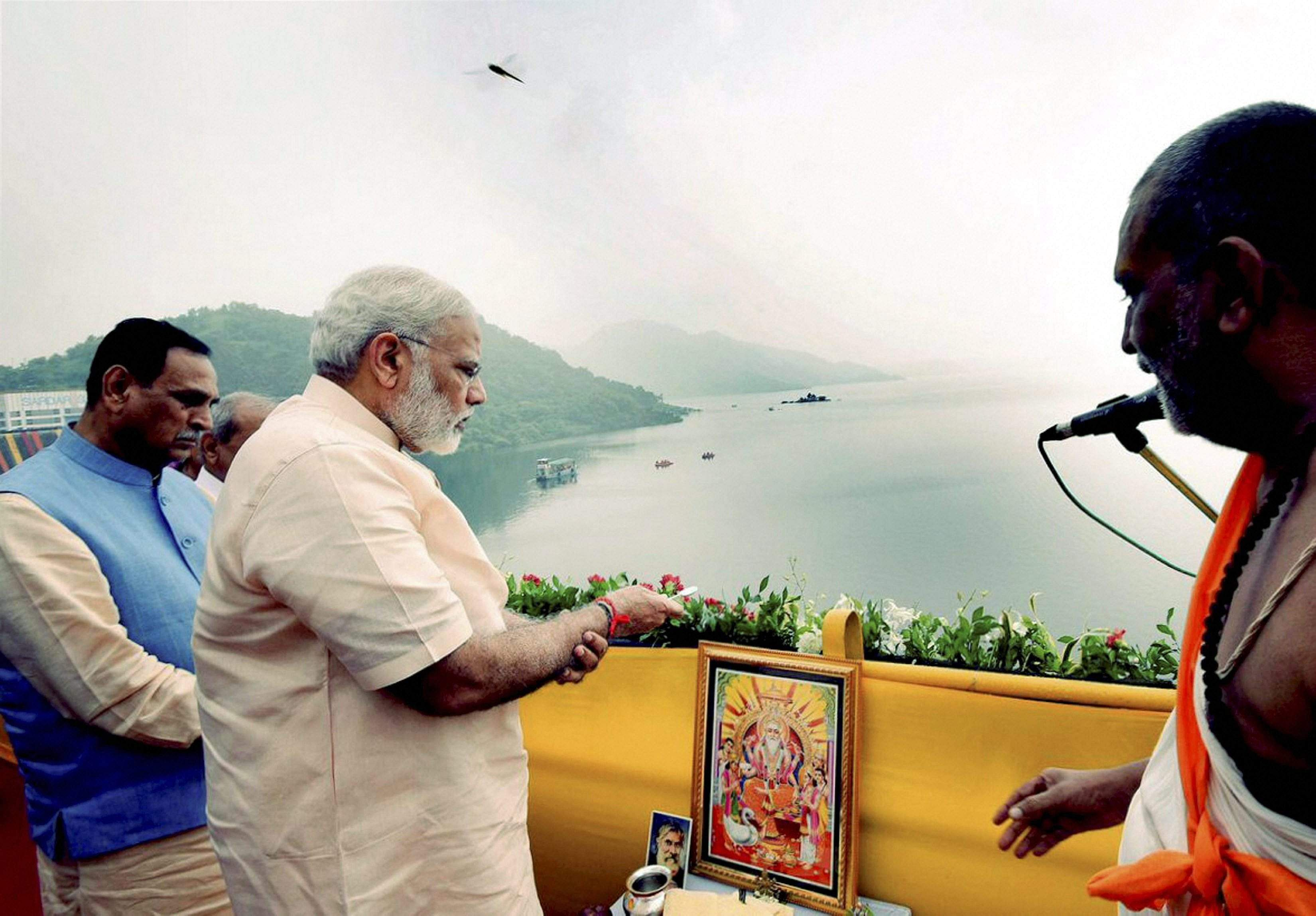 Prime Minister Narendra Modi inaugurated the ambitious 138 metre inter-state Sardar Sarovar Dam project on Narmada river on his 67th birthday on Sunday. | PTI