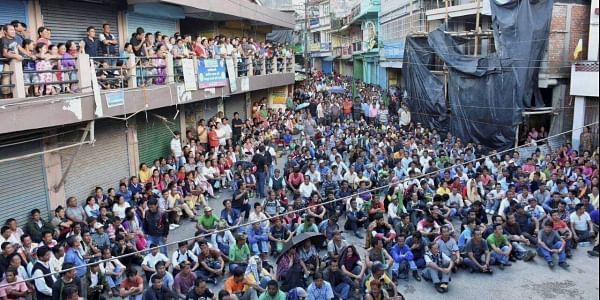 Gorkhaland supporters take part in a mass rally at Mirik in Darjeeling. (File | PTI)