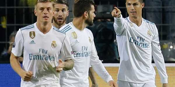 low priced f16ab b6f16 Cristiano Ronaldo nets twice as Real Madrid win in Dortmund ...
