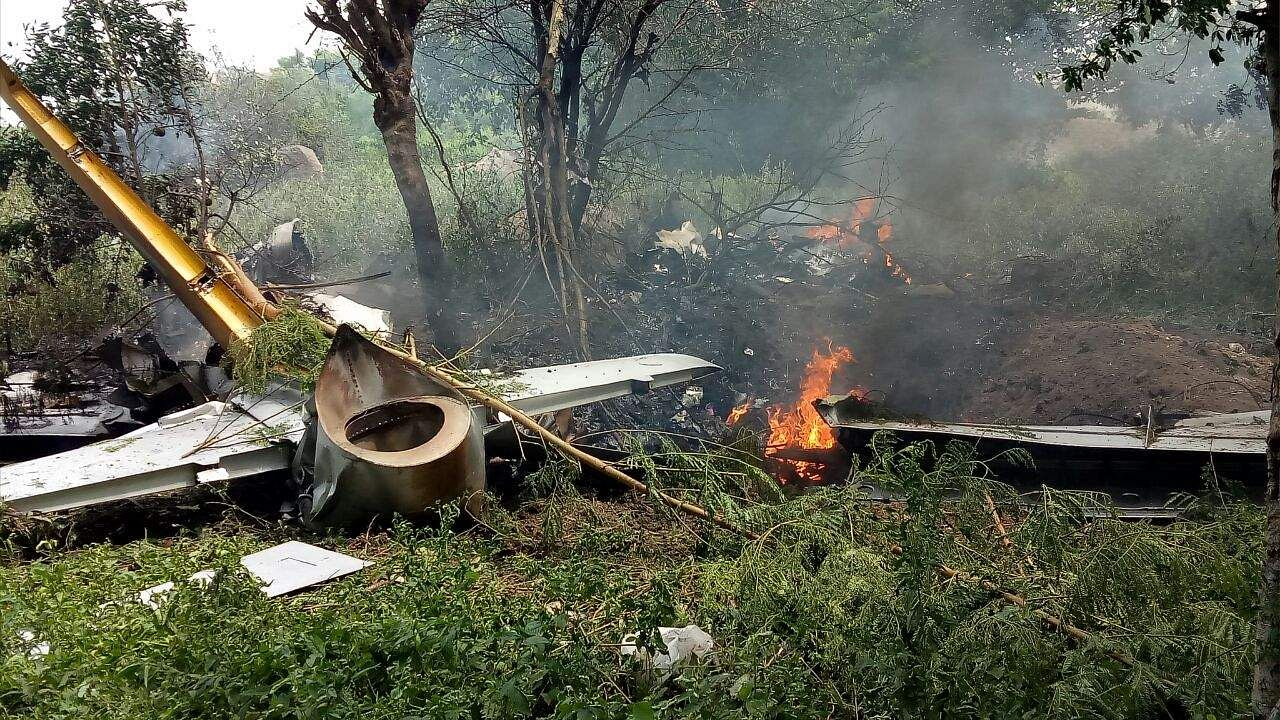 Airforce trainer aircraft crashes near Hyderabad, flight cadet safe