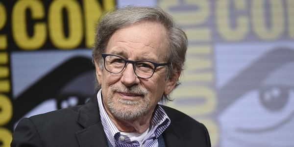 Steven Spielberg attends the Warner Bros. 'Ready Player One' panel on day three of Comic-Con International on Saturday, July 22, 2017, in San Diego. (Photo by Richard Shotwell/Invision/AP)