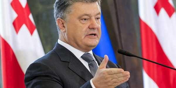 Ukraine President Petro Poroshenko.  AP