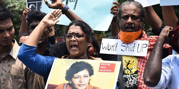 Protests over Tuesday's brutal murder of journalist-activist Gauri Lankesh spread across the country. | Express Photo Service