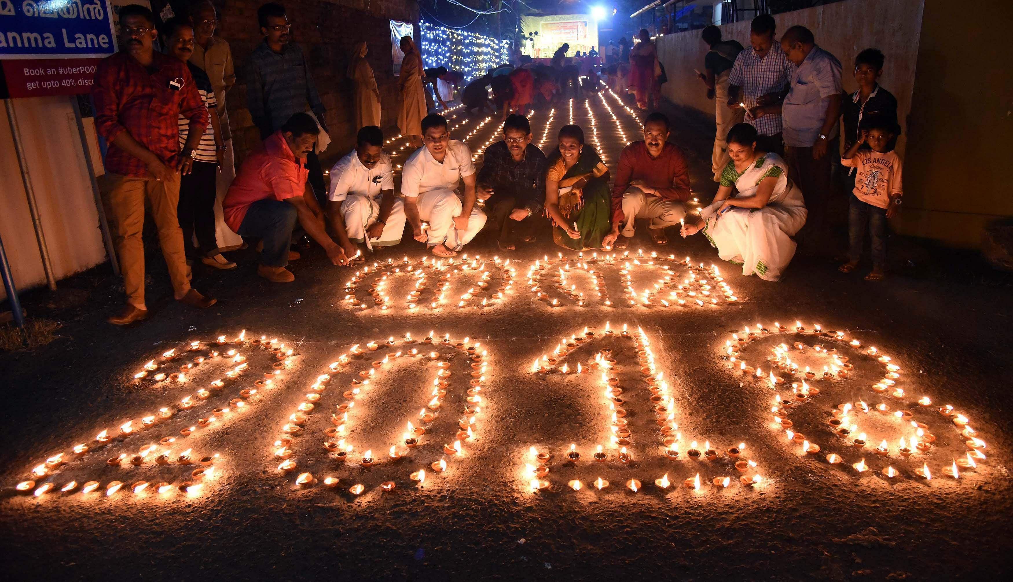 Kochi: A New Year Celebration Nanma 2018 At Puthukkalavattom On Sunday.  (Photo | PTI)