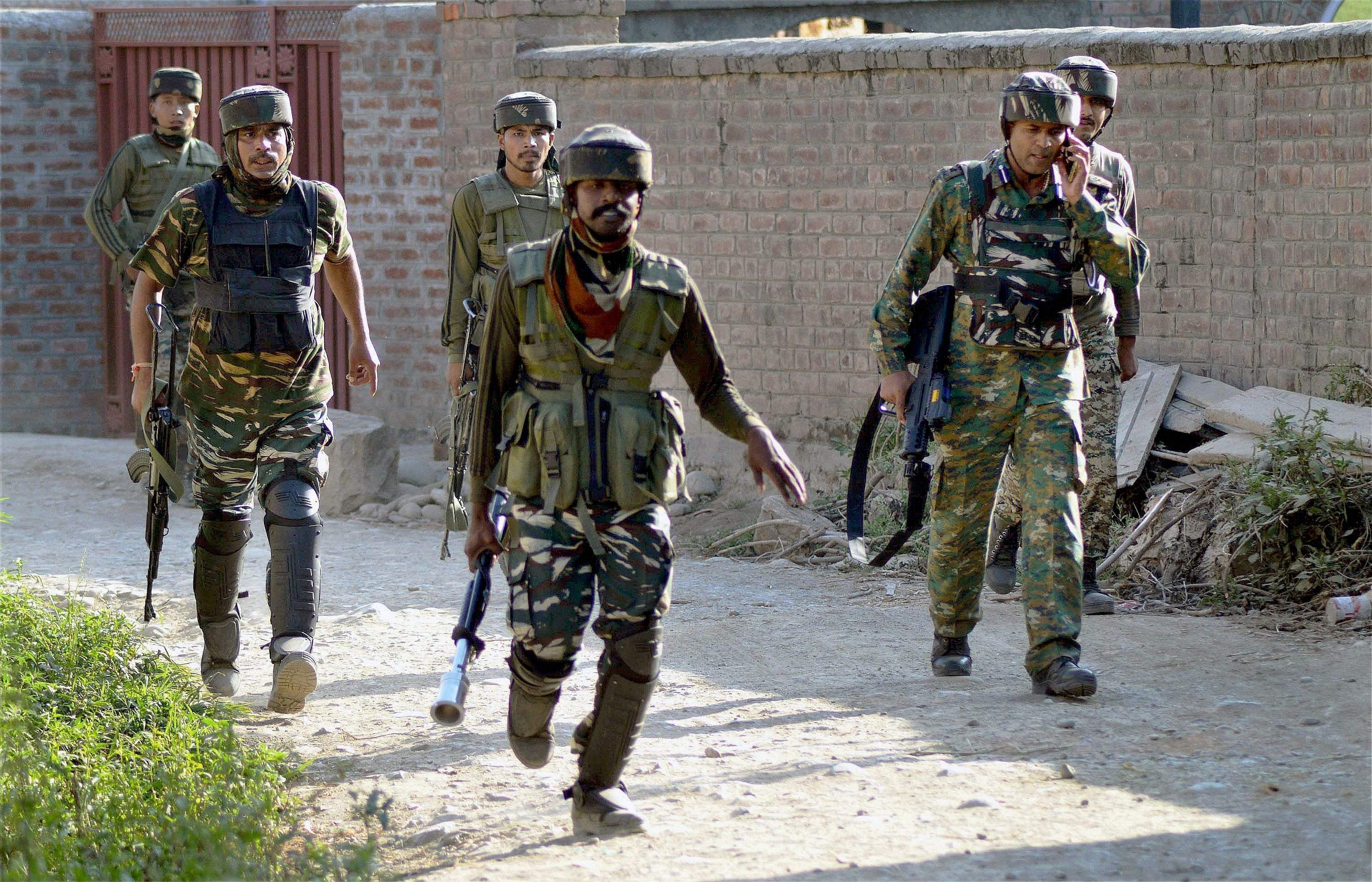 Indian Army jawans injured during practice drill