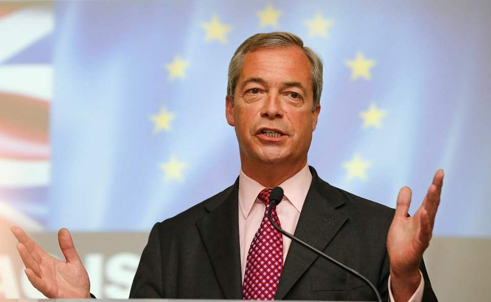 Nigel Farage says United Kingdom should