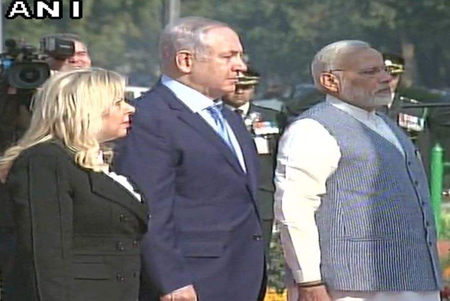 Modi welcomes Israel PM with iconic bear hug