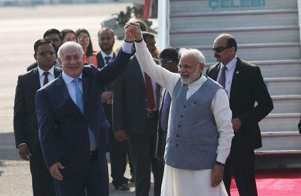 Modi welcomes Israeli PM Benjamin Netanyahu at start of six