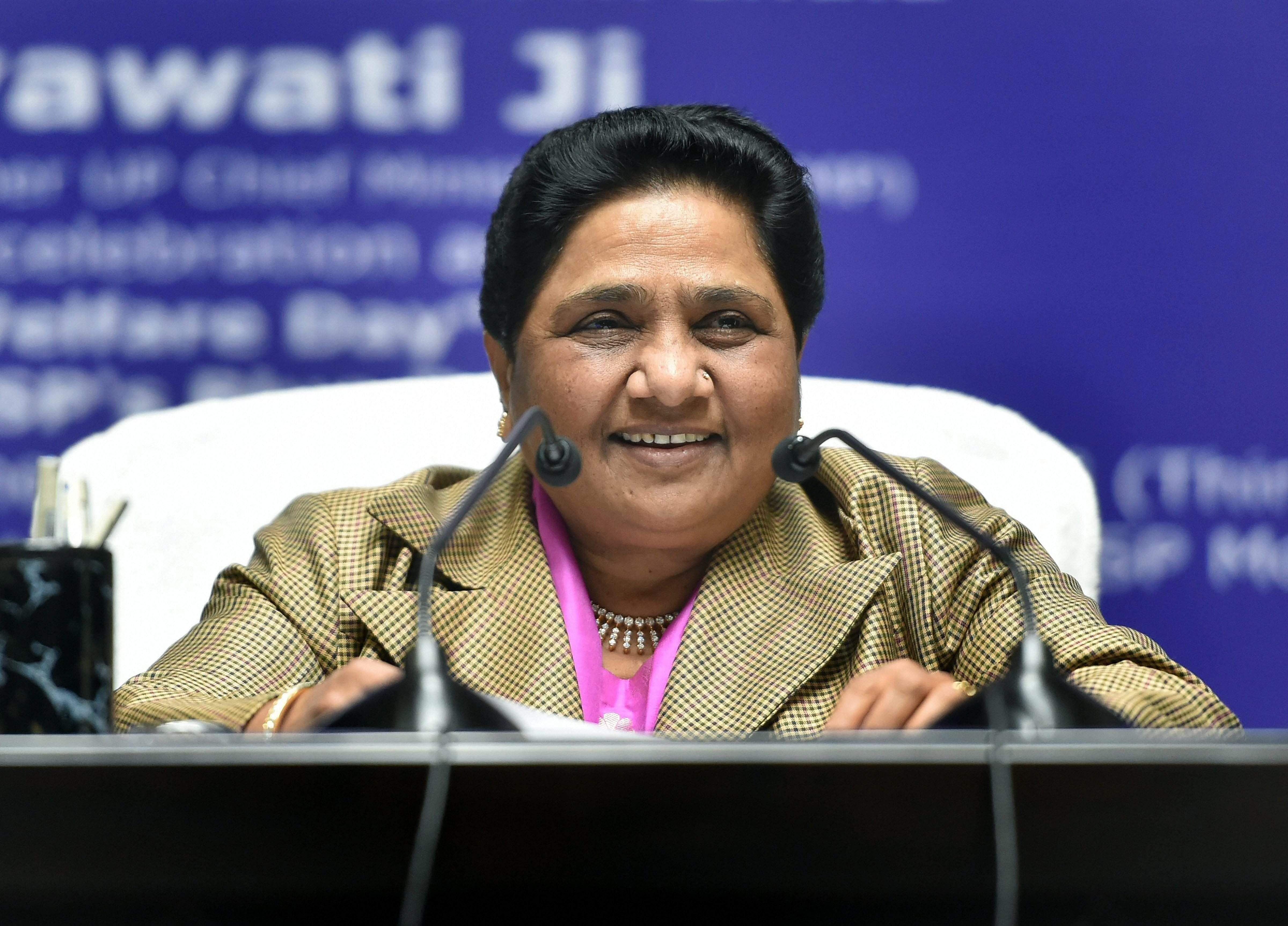 Mayawati doubts credibility of EVMs, asks why BJP fears paper