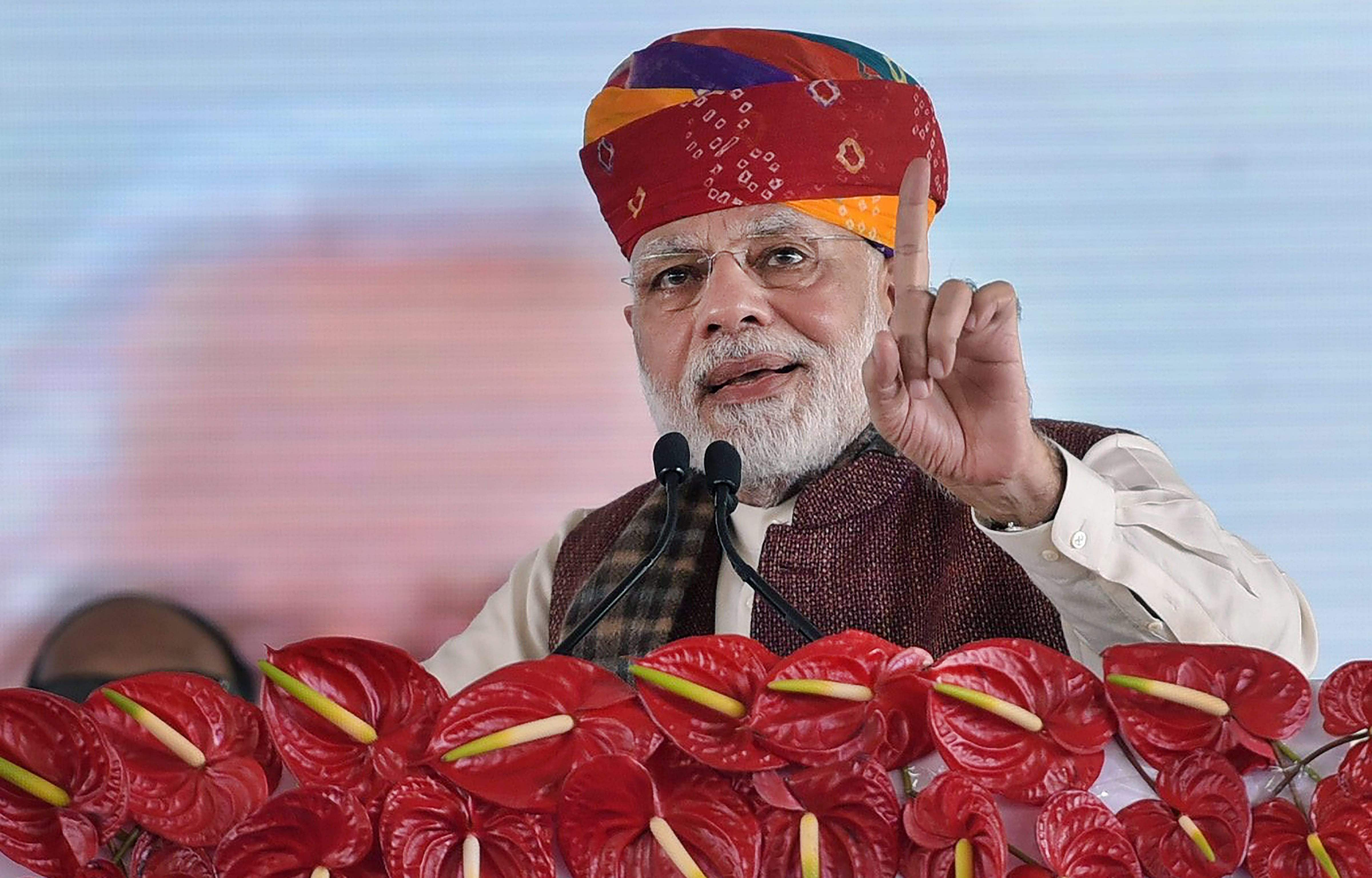 PM Modi inaugurates project commencement of Barmer refinery