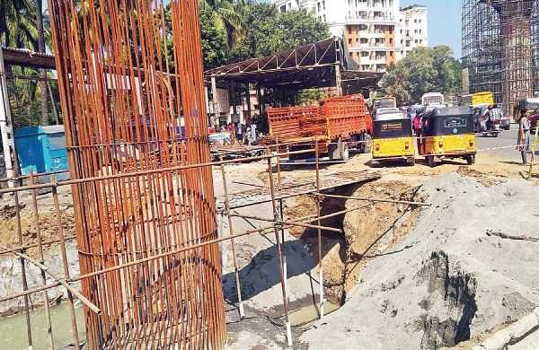 Vijayanagar bus terminus was demolished to make way for a bridge that connects Taramani link road with Velachery  bypass road | Express