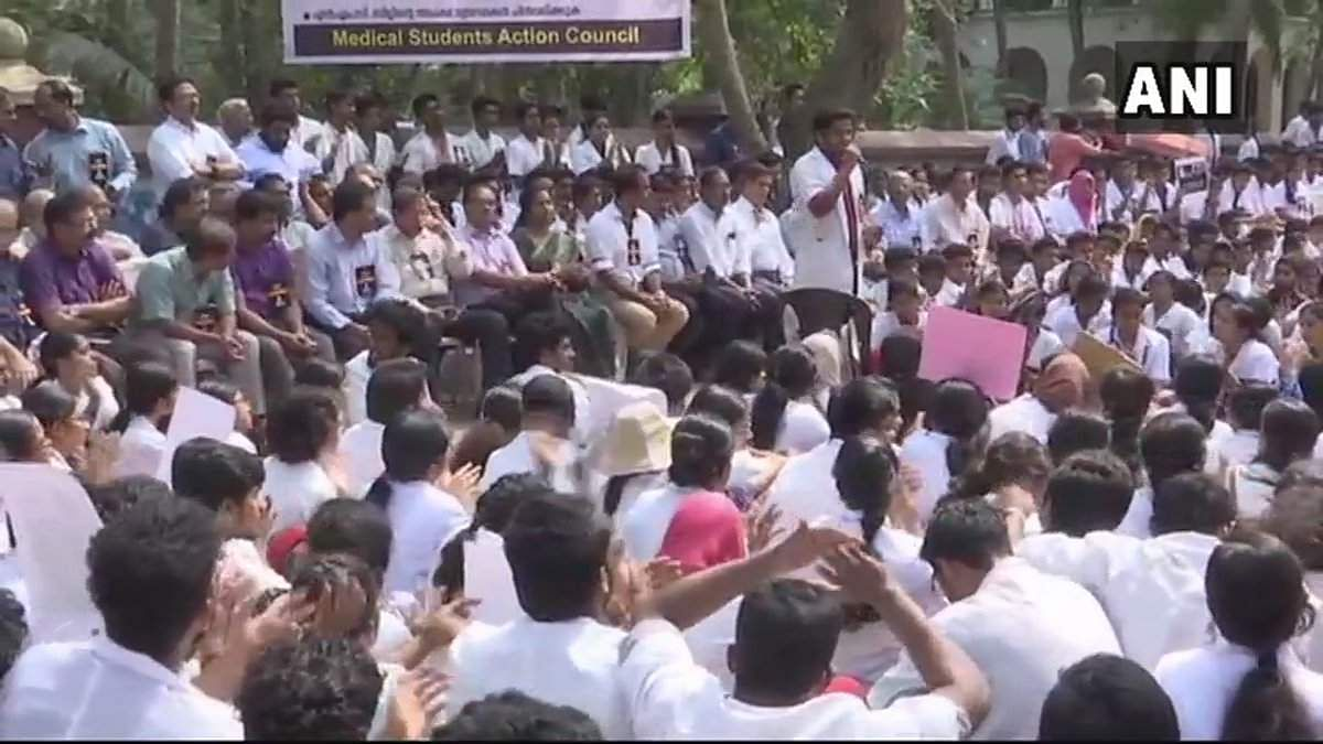 IMA's countrywide protest: Medicos stage demo in Odisha capital""