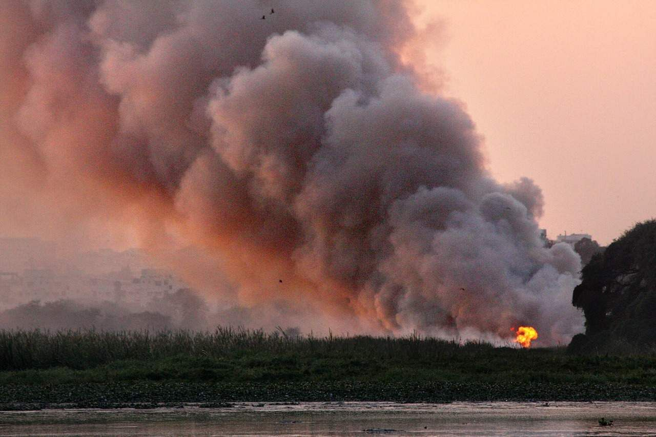 Bellandur lake burns, yet again