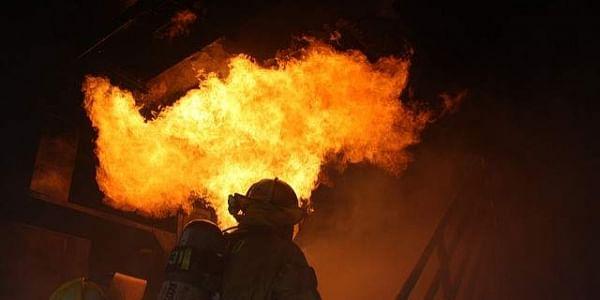 fire, house, firefighter, blast