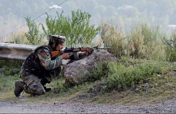 PTI file image of BSF personnel involved in a firing.