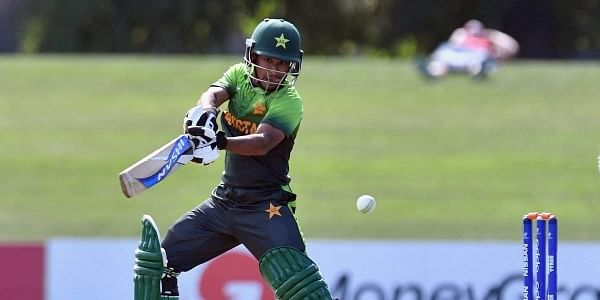 Left-handed Zaryab compiled a cautious but attractive 111-ball unbeaten knock, with five fours, that took two-time champions Pakistan to their target of 190 in 47.5 overs. | Twitter @cricketworldcup