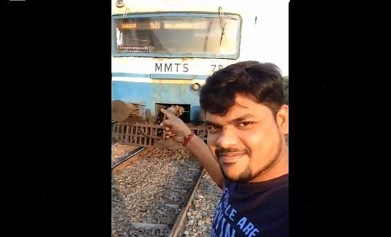 Shocking Video Shows Man Filming Selfie Clip Getting Hit by Train