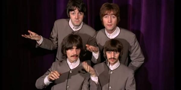 dbeeee015a74 The Beatles, an English rock band was formed in 1960. The other three  members were Paul McCartney, George Harrison and Ringo Starr.