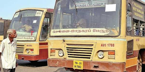 A 70a Bus On The Shortened Route Between Cmbt Avadi Replacing The Long Distance Buses D Sampath Ar