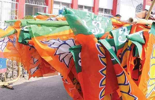 PTI file image of BJP flags used for representational purpose only