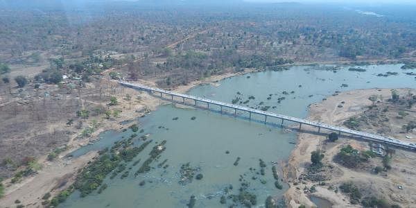 Aerial view of the bridge constructed in the Maoist-hotbed of Sukma in Chhattisgarh. It will facilitate road connectivity with five states. | Express