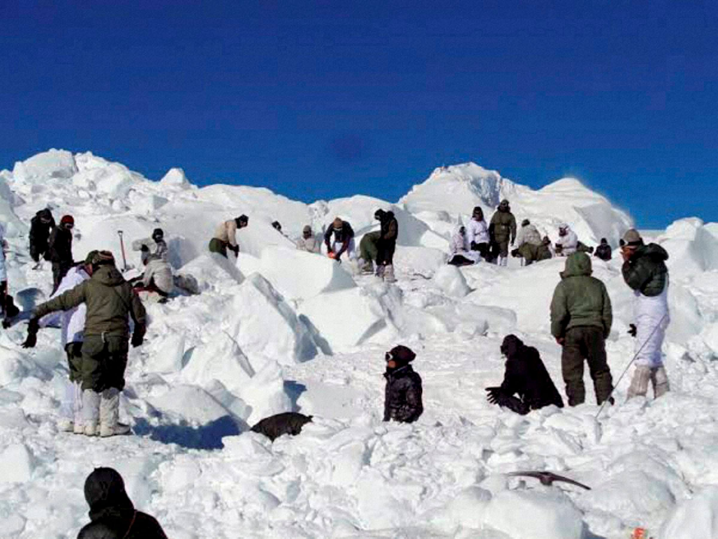 At least nine people go missing as avalanche hits Kashmir's Kupwara