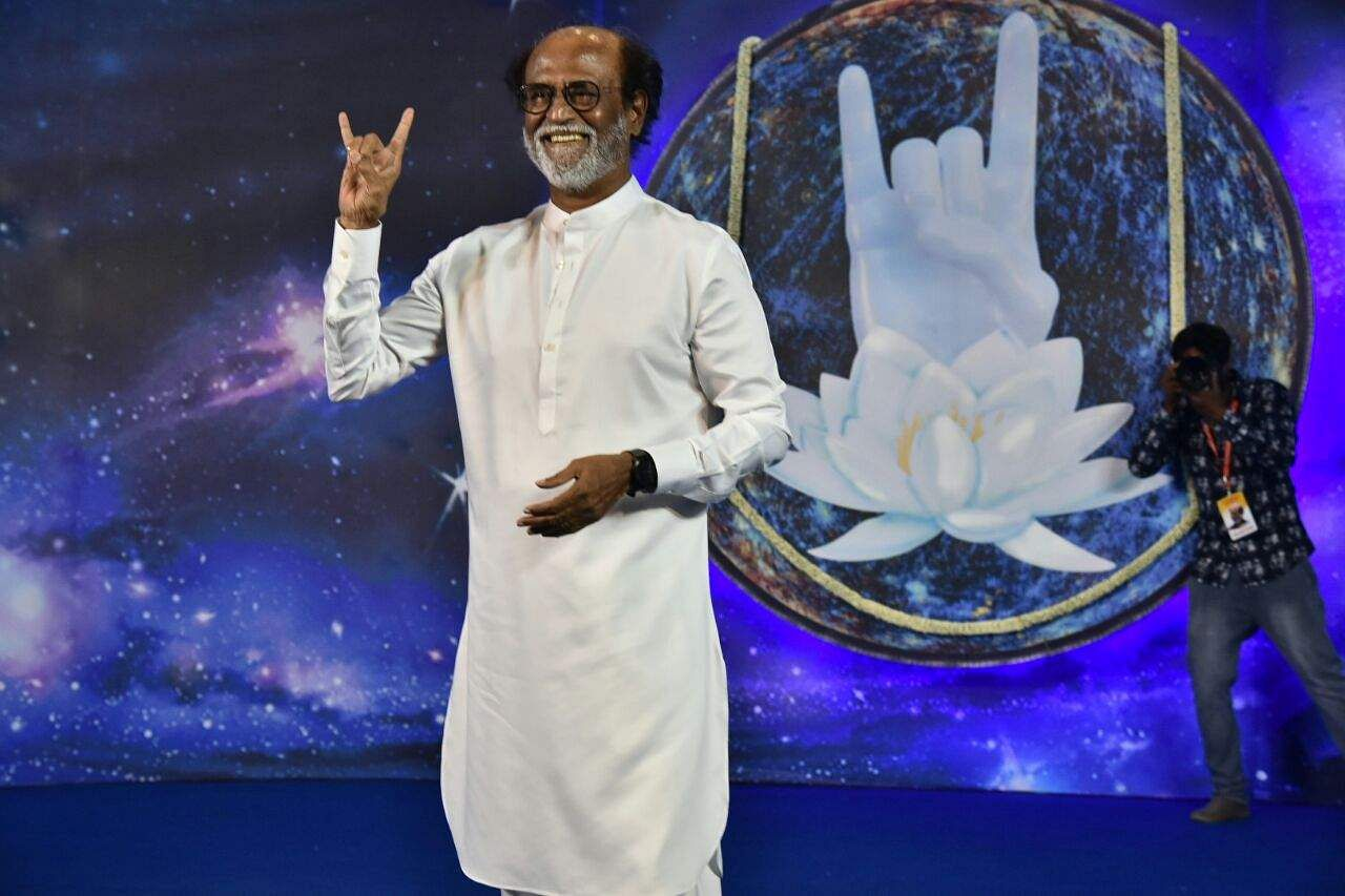 Rajinikanths baba gesture similar to our logo may create superstar rajinikanth during the announcement of his political entry at sri raghavendra mandapam in chennai p jawahar eps buycottarizona