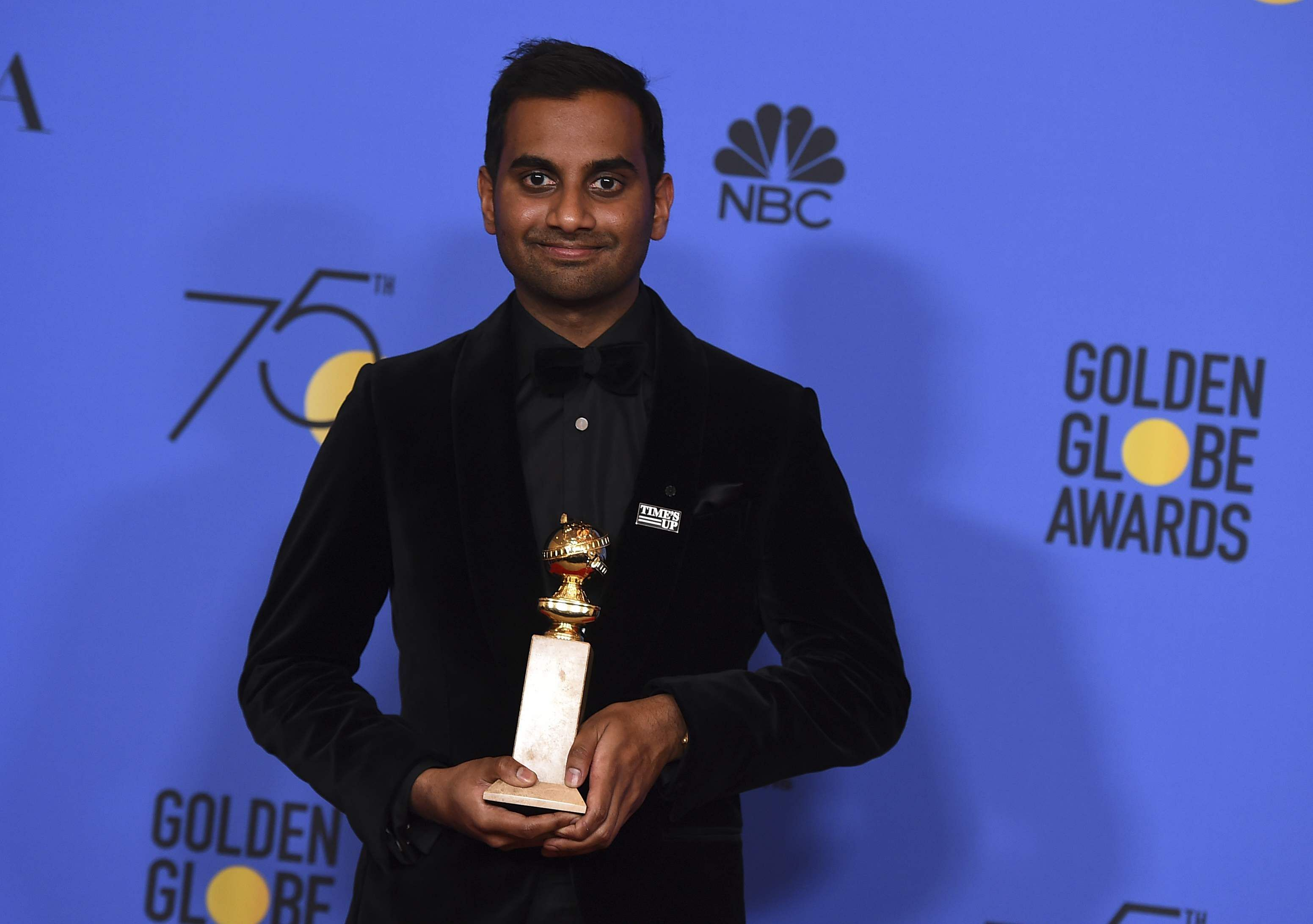 Ansari first man of Asian descent to win Globe for Best Actor