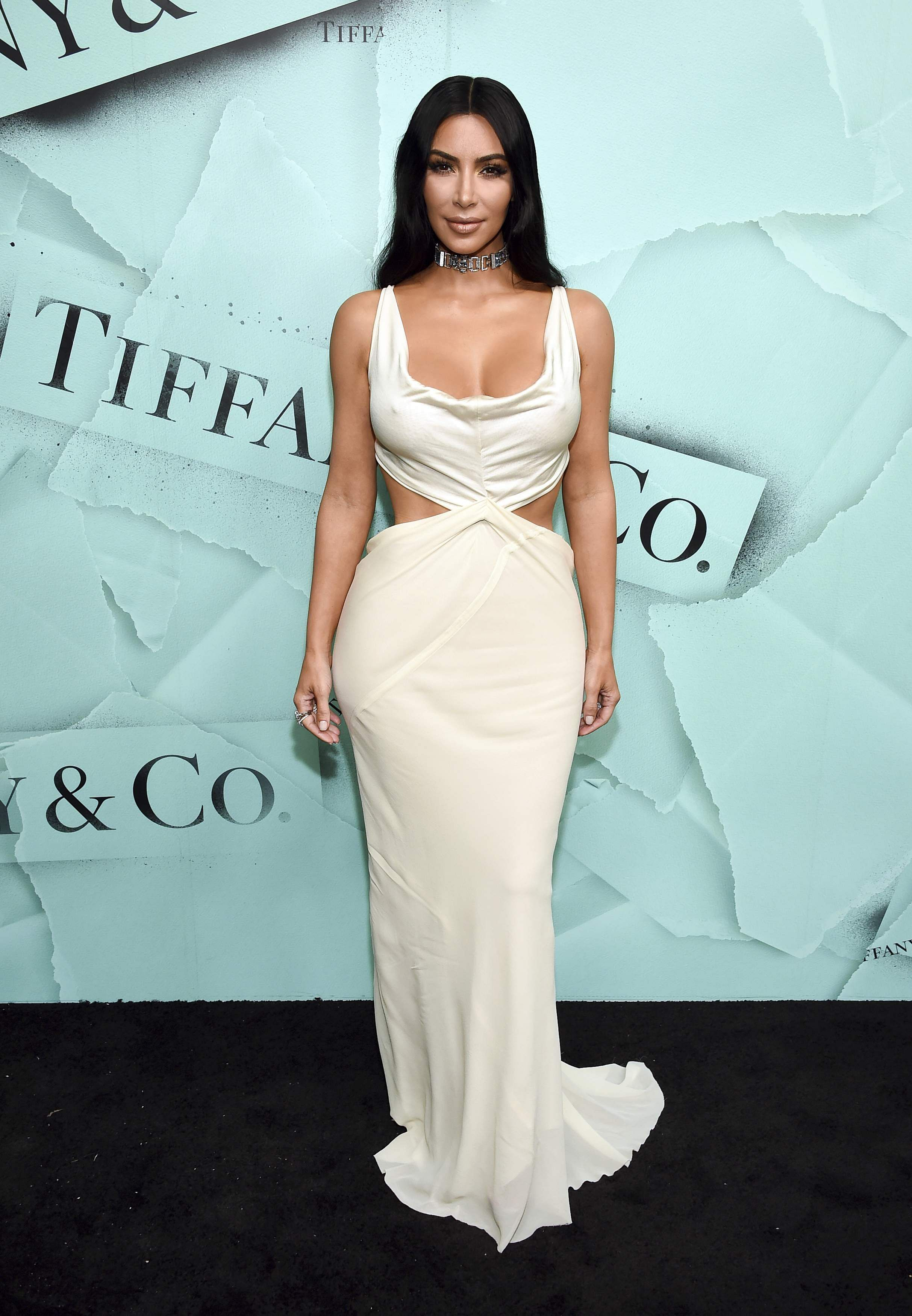 4ed8896af1dc Kim Kardashian West attends the Tiffany   Co. 2018 Blue Book Collection   The Four Seasons of Tiffany celebration at Studio 525.