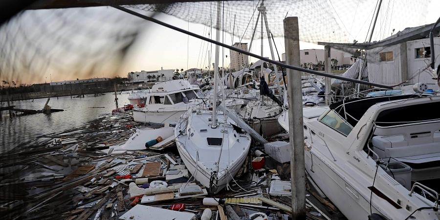 Damaged boats sit among debris in a marina in the aftermath of Hurricane Michael in Panama City, Fla. (Photo | AP)