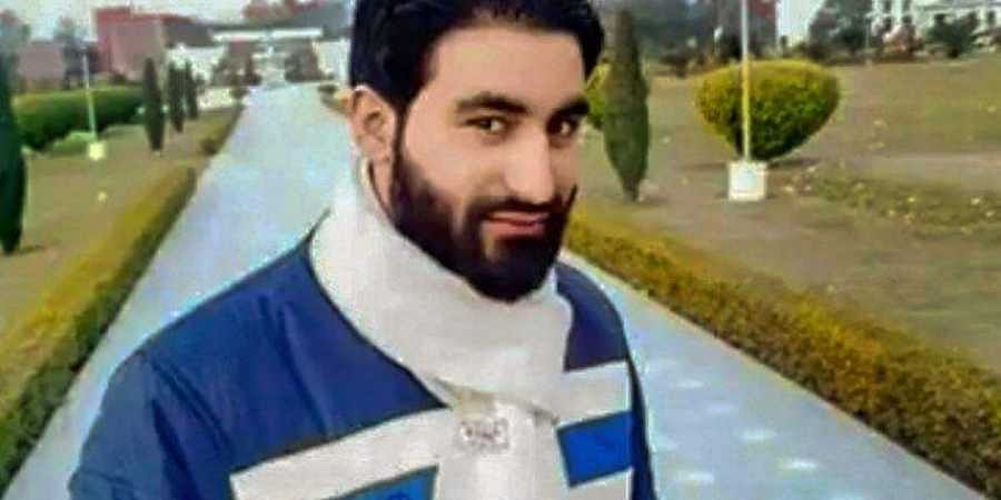 In this social media sourced photo is seen PhD scholar Manan Bashir Wani believed to be a Hizbul Mujahideen terrorist who was killed during an encounter with security forces at Handwara in Kupwara. (Photo | PTI)