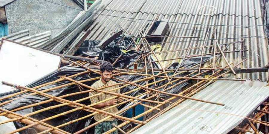 Tekkali plunged into darkness as Cyclone Titli destroyed power supply lines