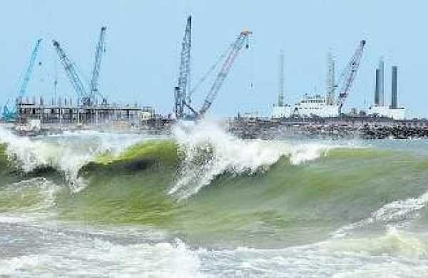The Vizhinjam port project site in Thiruvananthapuram  B P Deepu