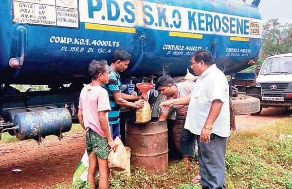 Kerosene being distributed among flood-hit people in Gajapati district | Express
