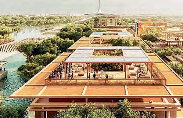 The proposed design for Amaravati.